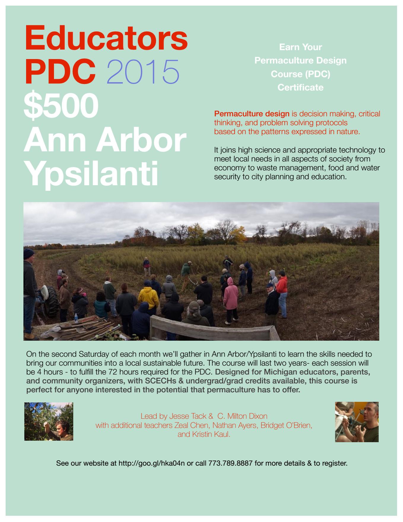Educators PDC 2015 - Ann Arbor MI