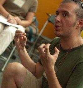 PDCE teacher Milton Dixon teaching during his teacher training